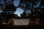A view of Jim Campbell's Scattered Light featured at Madison Square Park on October 21, 2010 in New York City.Photo by: Joe Kohen for The Wall Street Journal.LIGHT