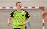 Mathias Møller (Nordsjælland) under kampen i Herrehåndbold Ligaen mellem Nordsjælland Håndbold og Aalborg Håndbold den 27. november 2019 i Helsinge Hallen (Foto: Claus Birch).