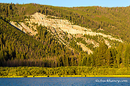 Brownes Lake at sunrise in the Pioneer Mountains of the Beaverhead-Deer Lodge National Forest, Montana, USA