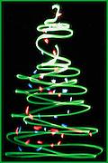 painting with light christmas tree