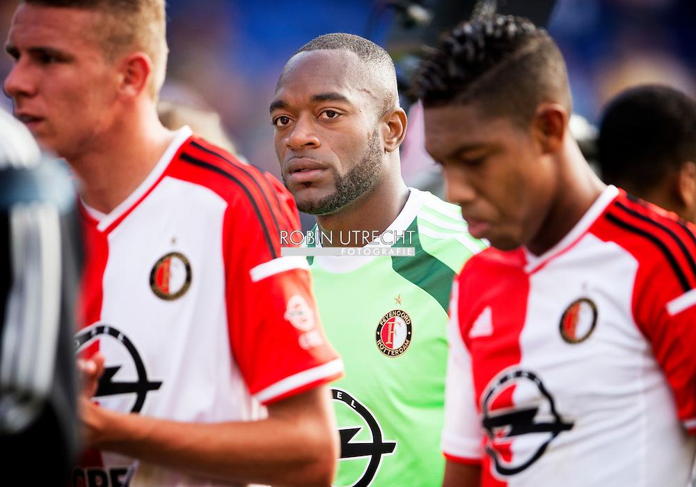 ROTTERDAM - Feyenoords keeper Kenneth Vermeer baalt na de verloren wedstrijd Feyenoord ajax in de Kuip , Feyenoord verloor de wedstrijd met 0-1  in actie  COPYRIGHT ROBIN UTRECHT