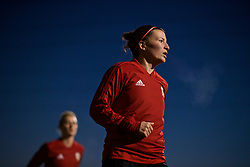 CARDIFF, WALES - Wednesday, January 16, 2019: Wales' Helen Ward during a training session at Dragon Park ahead of the International Friendly game against Italy. (Pic by David Rawcliffe/Propaganda)