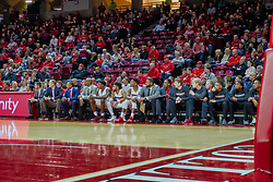 NORMAL, IL - February 05: Redbird bench during a college basketball game between the ISU Redbirds and the Valparaiso Crusaders on February 05 2019 at Redbird Arena in Normal, IL. (Photo by Alan Look)