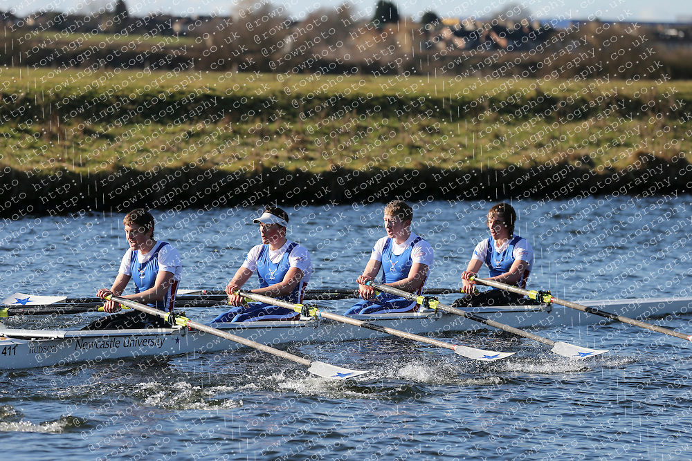 Newcastle University Boat Club. Championship Quad, BUCS Head 2012.