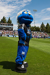 August 21, 2010; Santa Clara, CA, USA;  The San Jose Earthquakes mascot before the game against the Los Angeles Galaxy at Buck Shaw Stadium. San Jose defeated Los Angeles 1-0.