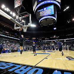 Mar 26, 2011; New Orleans, LA; Butler Bulldogs forward Matt Howard (54) warms up with teammates before the semifinals of the southeast regional of the 2011 NCAA men's basketball tournament against the Florida Gators at New Orleans Arena.   Mandatory Credit: Derick E. Hingle