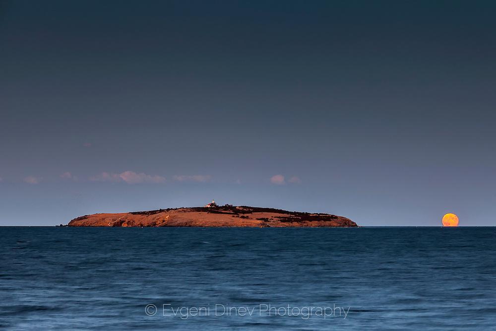 Moonrise by Saint Ivan Island