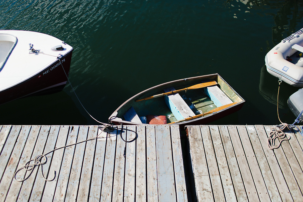 Small Boats Docked, Rockland Maine.