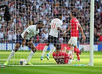 Football - 2018 / 2019 UEFA European Championships Qualifier - Group A: England vs. Bulgaria<br /> <br /> Raheem Sterling of England scores goal no 4, at Wembley Stadium.<br /> <br /> COLORSPORT/ANDREW COWIE