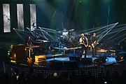 De 3FM Awards 2014 in de Gashouder, Amsterdam.<br /> <br /> Op de foto:  BLØF - Paskal Jakobsen , Peter Slager , Bas Kennis , Norman Bonink