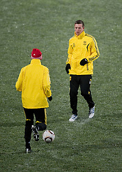 01.12.2010, Stadionul Steaua, Bucharest, ROM, UEFA Europa League, FC Steaua Bucuresti v Liverpool FC, training Liverpool, im BildLiverpool's Danny Wilson training at the Stadionul Steaua ahead of the UEFA Europa League Group K match against FC Steaua Bucuresti. EXPA Pictures © 2010, PhotoCredit: EXPA/ Propaganda/ David Rawcliffe +++++ ATTENTION - OUT OF ENGLAND/UK +++++