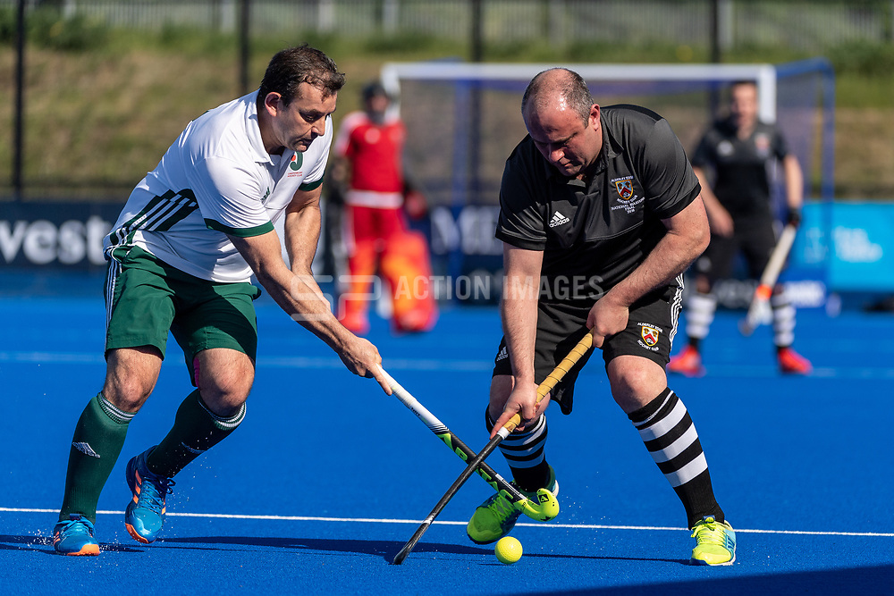Canterbury v Alderley Edge - Men's O40s T2 Final, Lee Valley Hockey & Tennis Centre, London, UK on 06 May 2018. Photo: Simon Parker