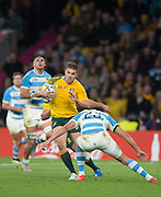 Twickenham. Great Britain,   Ben McCALMAN, attacking the line witj tjhe ball, during, Semi Final. Australia vs Argentina  2015 Rugby World Cup,  Venue, Twickenham Stadium, Surrey England.   Sunday  25/10/2015   [Mandatory Credit; Peter Spurrier/Intersport-images]