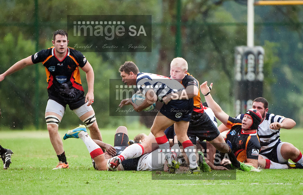 JOHANNESBURG, SOUTH AFRICA - Saturday 21 March 2015, Sishen # 9 Sarel DuPlessis  during the fifth round match of the Cell C Community Cup between Vaseline Wanderers and Aveng Moolmans Sishen at Kent Park, Wanderers Cricket Club, Johannesburg<br /> Photo by Brendan Croft/ ImageSA/SARU