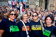Rome, Italy. 1th September 2015Assembly of educators and teachers of kindergarten on the staircase of Vignola in the Capitol to protest the dismissals decided by Roma Capitale, of 5000 workers with precarious contracts.