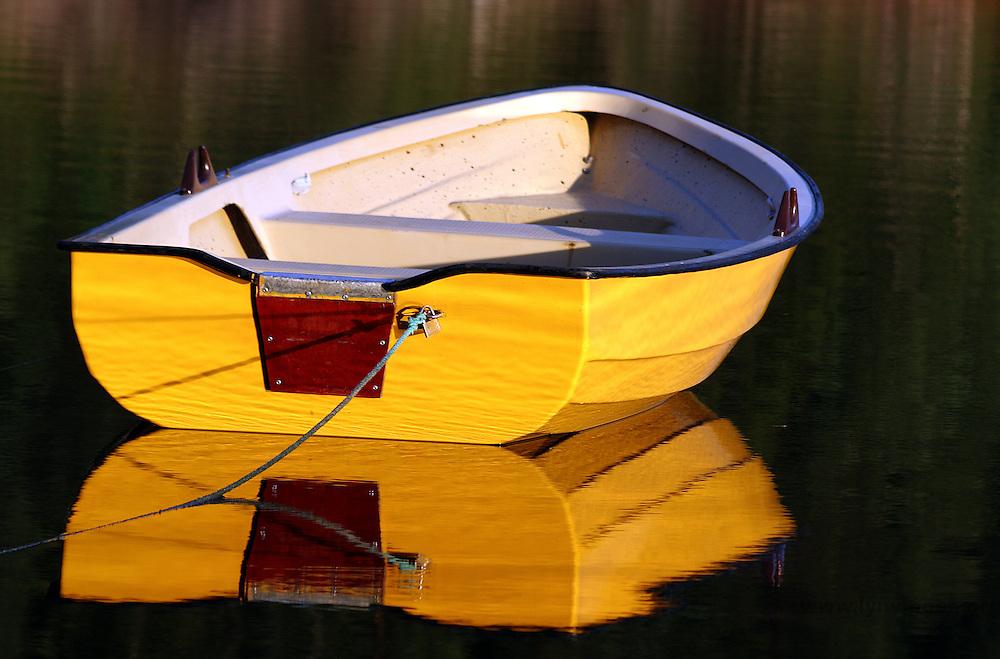 gul robåt, yellow rowing boat, rowboat