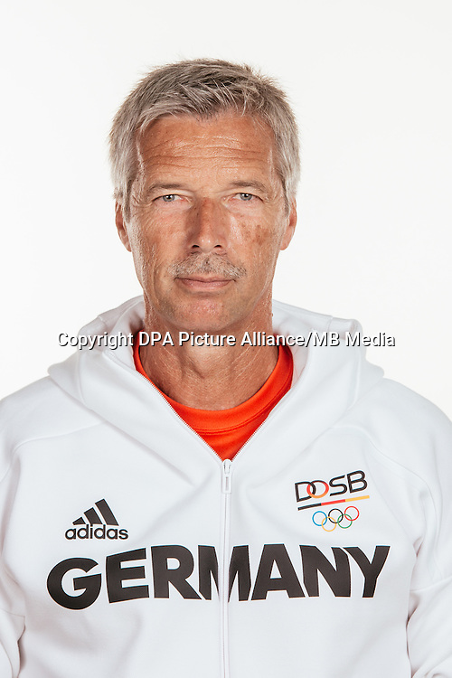 Volker Beck poses at a photocall during the preparations for the Olympic Games in Rio at the Emmich Cambrai Barracks in Hanover, Germany, taken on 22/07/16   usage worldwide
