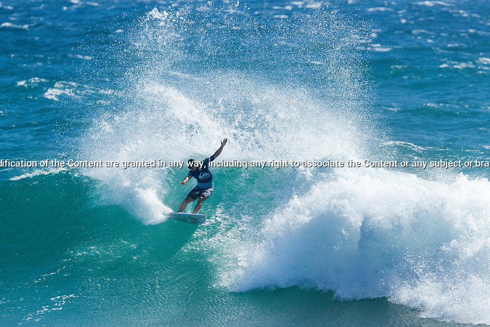 Rookie Tomas Hermes (BRA) advances to Round 4 of the Quiksilver Pro Gold Coast after winning Heat 3 of Round 3 at Snapper Rocks, Gold Coast, QLD, Australia. . FOR EDITORIAL NEWS USE ONLY