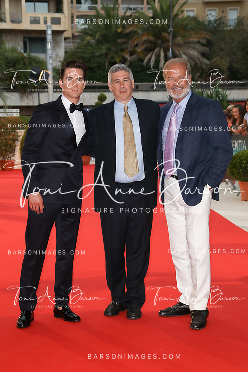"""MONTE-CARLO, MONACO - JUNE 18:  Matthew Bomer, executive producer Chris Keyser and Kelsey Grammer attend """"The Last Tycoon"""" screening on June 18, 2017 at the Grimaldi Forum in Monte-Carlo, Monaco.  (Photo by Tony Barson/FilmMagic)"""