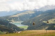 Isskogel mountain peak Gerlos lake in the background, Tyrol, Austria