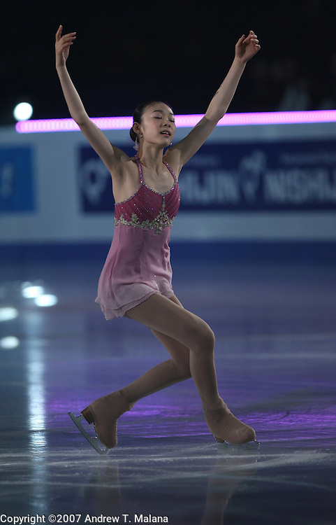 TOKYO - MARCH 25: Yu-Na Kim of South Korea performs in an exhibition program during at the World Figure Skating Championships at the Tokyo Gymnasium on March 25, 2007 in Tokyo, Japan. (Photo by Andrew T. Malana)..
