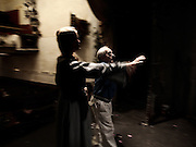 """New York: final rehearsal befoore the last season's show. Amato Opera, New York,  the smallest opera theater of the world ì The beauty of the Opera is still alive at the Amato Opera, which has been staging grand performances for over fifty years.Each season, it provides the community with productions of operatic classics like """"Carmen,"""" """"Aida,"""" and """"The Magic Flute."""".Tony Amato and his late wife, Sally founded the Amato Opera in 1948 with two goals in mind: to perform entertaining opera at a reasonable price; and to give promising singers experience with full-length productions. .After 61 years, the Amato opera is closing on May 31st with the retirement of Tony Amato"""