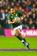 Elton Jantjies (#22) (Xerox Golden Lions) of South Africa during the Autumn Test match between Scotland and South Africa at the BT Murrayfield Stadium, Edinburgh, Scotland on 17 November 2018.