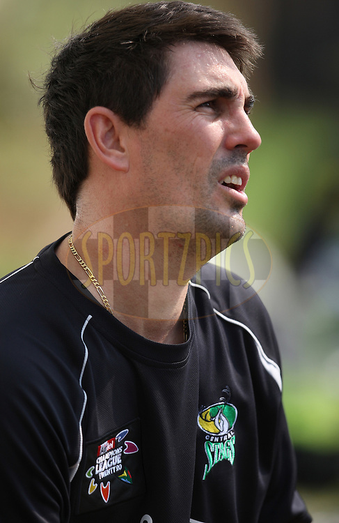 during the Central Stags training session held at Kingsmead stadium in Durban on the 9th September during the build up to the Champions League T20 tournament being held in South Africa between the 10th and 26th September 2010..Photo by: Steve Haag/SPORTZPICS/CLT20