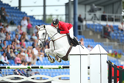 Toth Laszlo, (HUN), Isti<br /> Team Competition round 1 and Individual Competition round 1<br /> FEI European Championships - Aachen 2015<br /> &copy; Hippo Foto - Stefan Lafrentz<br /> 19/08/15