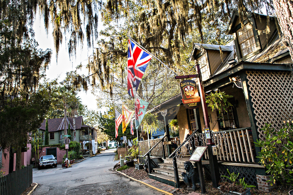 Historic district in St. Augustine, Florida. St Augustine is the oldest city in America.