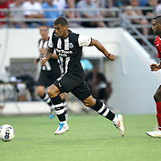 Newcastle United Forward Leon Best (20)during an International Friendly soccer match between English Premier League team Newcastle United and the Orlando City Lions of the United Soccer League, at the Florida Citrus Bowl on Saturday, July 23, 2011 in Orlando, Florida. Orlando won the match 1-0. (AP Photo/Alex Menendez)