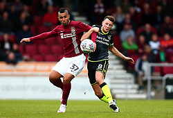 Ollie Clarke of Bristol Rovers takes on Lewis McGugan of Northampton Town - Mandatory by-line: Robbie Stephenson/JMP - 07/10/2017 - FOOTBALL - Sixfields Stadium - Northampton, England - Northampton Town v Bristol Rovers - Sky Bet League One