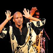 Ladysmith Black Mambazo member Msizi Shabalala performing at The Music Hall, Portsmouth, NH