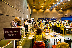 Pictured: <br /> The count of the postal votes has started just after the polls closed at Medowbank, Edinburgh<br /> <br /> Ger Harley | EEm 8 June 2017