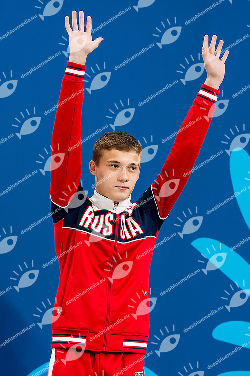 SHLEIKHER Nikita RUS<br /> Platform Men Final Diving<br /> 1st European Olympic Games <br /> Baku Azerbaijan 12-28/08/2015<br /> Photo Andrea Masini/Deepbluemedia/Insidefoto
