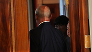 White House Chief of Staff John Kelly leaves the East Room of the White House on April 3, 2018<br /> Photo by Dennis Brack