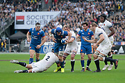 Wenceslas Lauret (FRA), Chris Robshaw (ENG), Jamie George (ENG), Guilhem Guirado (FRA), Maxime Machenaud (FRA), Maro Itoje (ENG) during the NatWest 6 Nations 2018 rugby union match between France and England on March 10, 2018 at Stade de France in Saint-Denis, France - Photo Stephane Allaman / ProSportsImages / DPPI