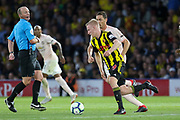 Watford midfielder Will Hughes (19) during the Premier League match between Watford and Manchester United at Vicarage Road, Watford, England on 15 September 2018.