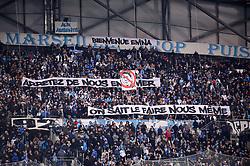 January 13, 2019 - Marseille, France - ILLUSTRATION - SUPPORTERS - BANDEROLE (Credit Image: © Panoramic via ZUMA Press)