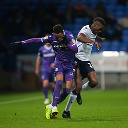 Thomas Ince of Stoke City (L) and Sammy Ameobi of Bolton Wanderers in action - Mandatory by-line: Jack Phillips/JMP - 29/12/2018 - FOOTBALL - University of Bolton Stadium - Bolton, England - Bolton Wanderers v Stoke City - English Football League Championship