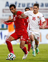 26.05.2014, Hartberg Stadion, Hartberg, AUT, FIFA WM, Testspiel, Iran vs Montenegro, im Bild Mehrdad Pouladi (IRN) und Miroje Jovanovic (MNE) // Mehrdad Pouladi (IRN) and Miroje Jovanovic (MNE) during friendly match between Iran and Montenegro for Preparation of the FIFA Worldcup Brasil 2014 at the Hartberg Stadium, Hartberg, Austria on 2014/05/26, EXPA Pictures © 2014, PhotoCredit: EXPA/ Erwin Scheriau