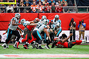 Carolina Panthers Quarterback Kyle Allen (7) in action during the International Series match between Tampa Bay Buccaneers and Carolina Panthers at Tottenham Hotspur Stadium, London, United Kingdom on 13 October 2019.