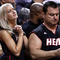29 January 2012: Miami fans are seen during the Miami Heat 97-93 victory over the Chicago Bulls at the AmericanAirlines Arena, Miami, Florida, USA.