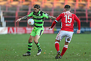 Forest Green Rovers Rob Sinclair(19) during the Vanarama National League match between Wrexham FC and Forest Green Rovers at the Racecourse Ground, Wrexham, United Kingdom on 26 November 2016. Photo by Shane Healey.