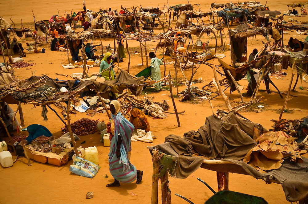 Informal market in Iridimi refugee camp outside of Iriba, Chad.