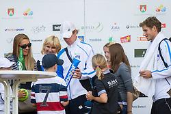 Blaz Kavcic during Davis Cup Slovenia vs. South Africa on September 14, 2013 in Tivoli park, Ljubljana, Slovenia. (Photo by Vid Ponikvar / Sportida.com)