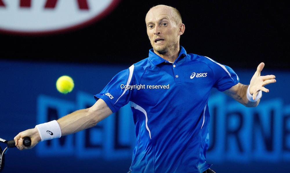 17.01.2013 Melbourne, Australia. World Tour Grand Slam Australian Open Picture shows Nikolay Davydenko RUS
