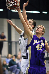 30 December 2006: Zach Freeman and Drew Yancey follow the ball through the net.  The Titans outscored the Britons by a score of 94-80. The Britons of Albion College visited the Illinois Wesleyan Titans at the Shirk Center in Bloomington Illinois.<br />
