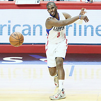 09 November 2016: Los Angeles Clippers guard Chris Paul (3) passes the ball during the LA Clippers 111-80 victory over the Portland Trail Blazers, at the Staples Center, Los Angeles, California, USA.
