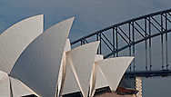 A view of the Opera House and Sydney Harbor Bridge.